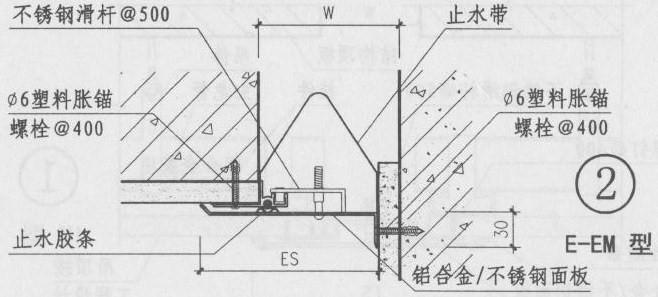 外墙变形缝做法图集E-EM