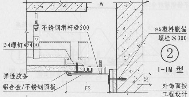 室内天棚变形缝图集I-IM