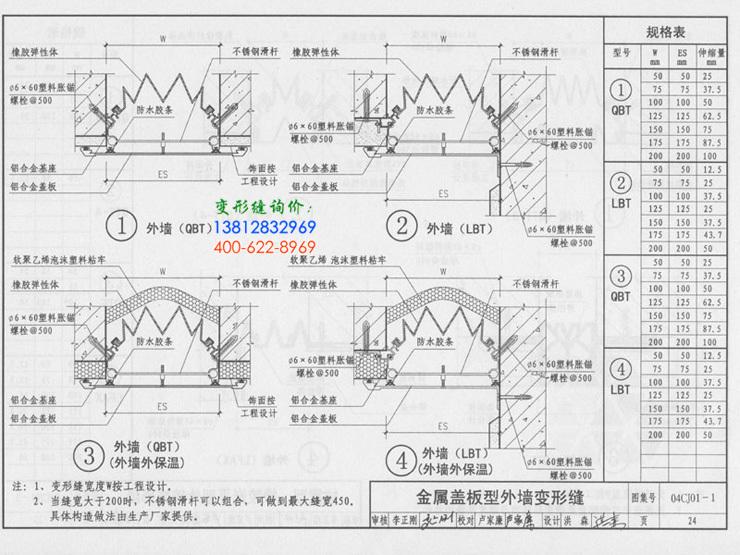 国标变形缝图集04CJ01-1第24页