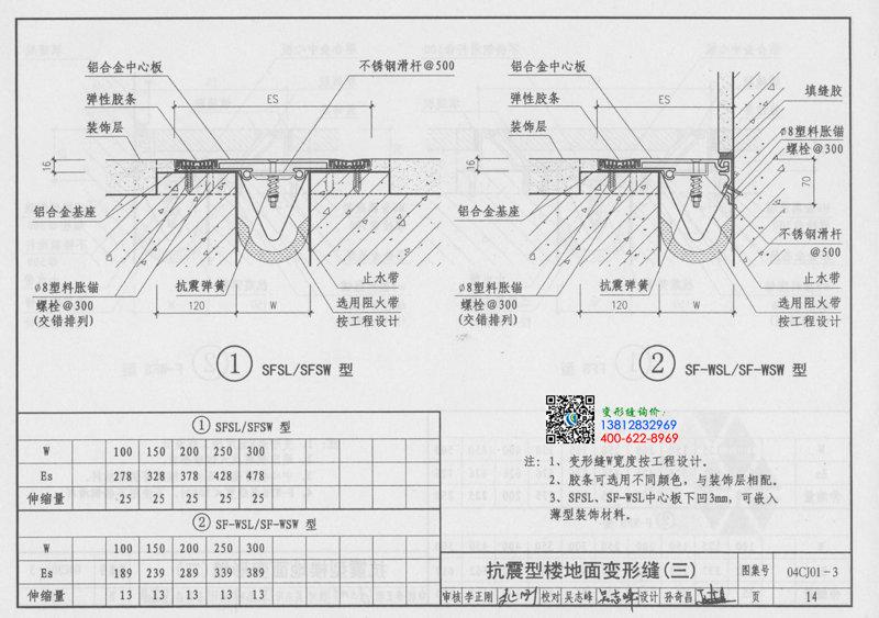 变形缝图集04CJ01-3第14页