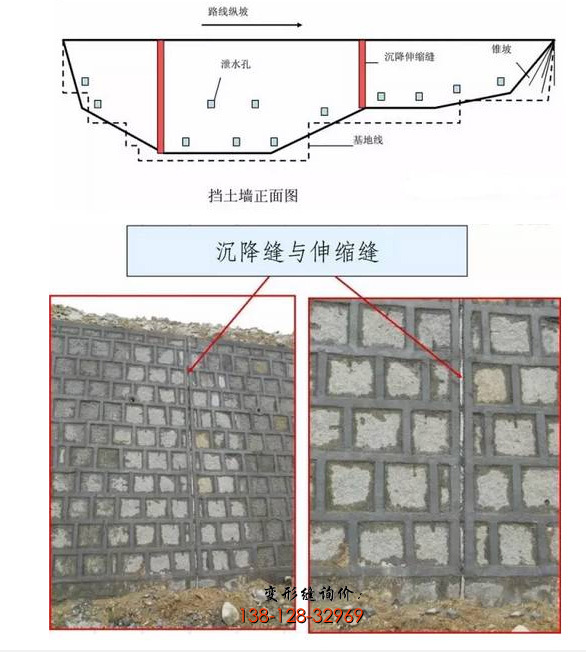 挡土墙沉降缝和挡土墙伸缩缝